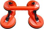 Ventosas Industriais Quadrupla 110 mm com suporte e trava   Industria de Ventosas